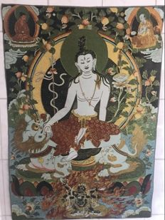 Embroidery representing seated Buddha-Tibet-21th century