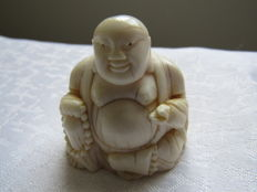 "Ivory sculpture ""Seated Buddha"" - China - ca. 1930"