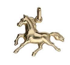 Pendant horse 14 kt yellow gold - 23 mm