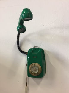 Vintage decorative lamp carved from Sip wall phone from the 1960s