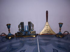 Judaica, Dayagi, made in Israel, signed, 4 pieces