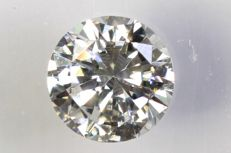 0.24 ct - Brilliant-cut diamond -  D,  SI1