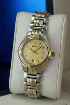 Gucci -  Luxury  Wrist Watch for Women Date Stainless & Gold Plated