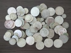 World – over one kg of silver coins from all over the world – silver