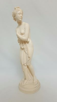 Greek mythology, large statue of Venus, signed A. Santini