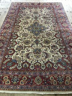 Handknotted persian fine saruk rug ,size344x222 cm vintage 1950'