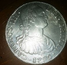 Spagna - Carlo IV - 8 reales - 1792 - Messico