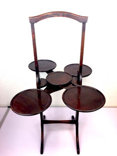 "Mahogany ""cake stand"" - collapsible - England - Edwardian - early 20th century"