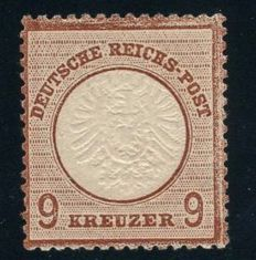 German Empire/Reich - 1872 - 9 Kreuzer purple-brown, large breast plate, Michel 27b