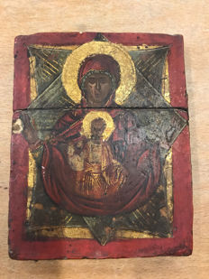 Russian icon, Madonna with Child - 19th century