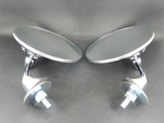 Very nice Pair of Chrome Lucas Style Classic Car Side Wing Mirrors Left and Right Handed