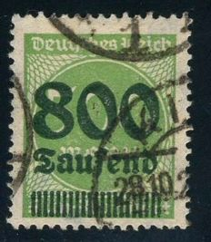 German Empire/Reich - 1923 - 800 thousand on 500 M, Michel 307A