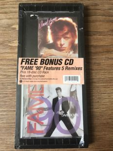 David Bowie - Ryko Young Americans CD with 3 bonus tracks packaged with the FAME '90 CD single and plastic CD rack (still sealed)