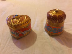 Faberge Gold-plated music boxes Franklin Mint