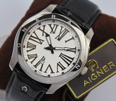 Aigner Mens Swiss Made Stainless Steel Watch - New & Mint Condition