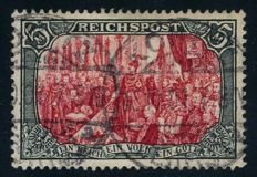 German Empire/Reich - 1900 - 5 Mark Reichspost green-black/red type I, Michel 66I