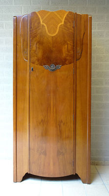 Art Deco style single-door wardrobe, ca 1960, England