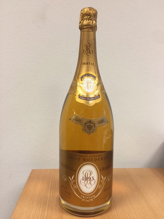 1995 louis roederer cristal champagne 1 magnum 150cl catawiki. Black Bedroom Furniture Sets. Home Design Ideas