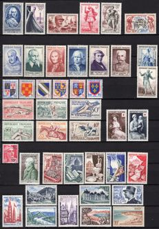 France 1953/1955 – 3 complete years Yvert No. 940 to 1049