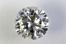 Brilliant cut diamond, 0.49 ct – E, VS2.