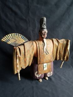 Noh kyogen Nogaku puppet in Itobori style , signed - Japan – around 1900-1920