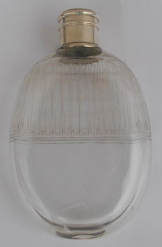 G.Keller solid silver & glass perfume bottle, France, circa 1900-1920
