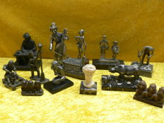 Lot of 13 sculptures, including Peltro, Corry Ammerlaan van Niekerk, Daalderop a.o.