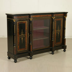 Ebonised servante/sideboard in Second French Empire style - Italy - ca. 1885