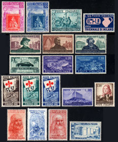 Italian Republic 1951/1952 - Selection of stamps