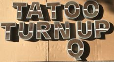 Lit sign consisting of 11 letters - 1950 ca