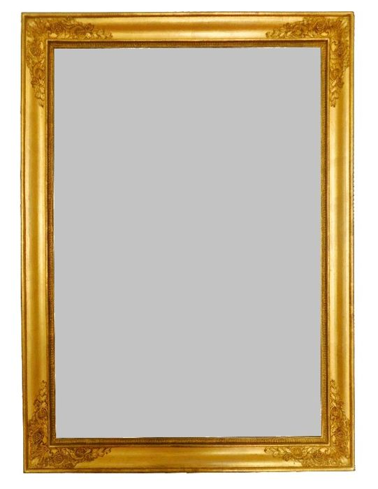 Empire Mercury Coated Glass Mirror Wooden Gilded In Gold Leaf