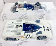 Exoto - Scale 1/18 - Chaparral 2 E 1966 complete car & rolling chassis - tribute to Phil Hill