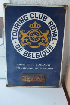 Touring Club Royal de Belgique - authentic rally sign - 43 x 30 cm - (1963)