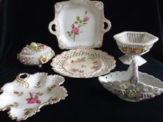 3 Porcelain serving dishes and 3 porcelain bonbon bowls. Several brands including Gerold Porzellan Bavaria.