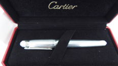 Cartier platinum fountain pen with turquoise blue stone