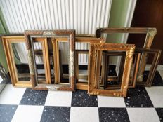 Once gold-plated classic painting frames