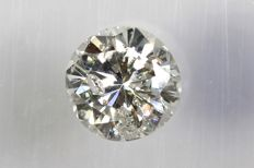 0.12 ct Brilliant cut diamond – K/I1 – No Reserve Price