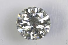 Brilliant cut diamond, 0.39 ct –  G / SI2