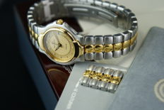 Universal Genève Polerouter - women's wrist watch Steel with 18Kt  gold plated