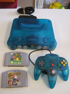 Nintendo 64 Ocean Blue incl. Mario64 and Mario Kart