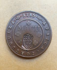 Portugal – D. Maria II – 1 (2) Macutas with crowned stamp - 1785 - Angola. Perfect condition