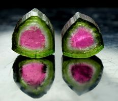 Lot of Perfect Watermelon Tourmaline Slices - 13.50ct (2)