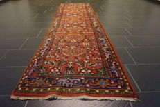 Oriental carpet Indo Heriz, made in India 80 x 330cm