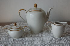 Coffee pot, milk jug & sugar bowl - porcelain - Germany