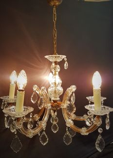 Antique French glass chandelier, second half 20th century, France