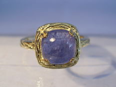 Cocktail ring with solitaire tanzanite approx. 2.5 ct