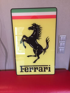Large exclusive Ferrari Plexiglas: 72 cm x45cmx5mm LIMITED 21/99 pcs - Advertising sign logo with horse - 90s - for a collector