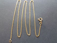 Necklace made of solid 18 kt gold — 45 cm