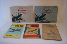 Croydon plane Series - lot with five books on Aviation History from the period 1920/1953