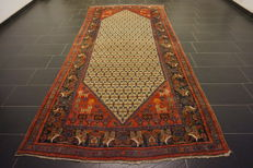 Persian carpet, Malayer, 155 x 340 cm, made in Iran, old rug, collector's item